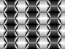 Modèle monochrome sans couture d'hexagone de conception illustration de vecteur