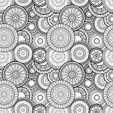 Modèle monochrome sans couture de cercles de vecteur illustration libre de droits