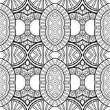 Modèle monochrome sans couture de cercles de vecteur illustration stock