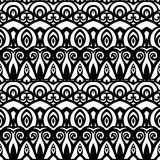 Modèle monochrome sans couture de damassé de vecteur Photo libre de droits