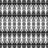 Modèle monochrome sans couture de damassé de vecteur Photographie stock libre de droits