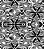 Modèle monochrome sans couture des diamants incurvés Fond abstrait géométrique Approprié au textile, au tissu, à l'emballage et a Illustration Stock