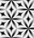 Modèle monochrome sans couture des diamants incurvés Fond abstrait géométrique Effet visuel de volume Illustration de Vecteur