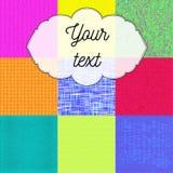 Modèle multicolore de textil photos libres de droits