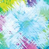 Modèle multicolore des courses de brosse Photo stock