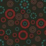 Modèle multicolore sans couture avec les mandalas tibetian Motifs islamiques, arabes, persans Éléments de kaléidoscope Tissu illustration libre de droits