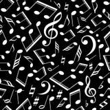 Modèle musical de vecteur avec des notes Illustration de vecteur Image libre de droits