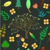 Modèle naturel avec la couleur douce illustration libre de droits