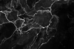 Modèle naturel de marbre noir pour le fond, mA naturel abstrait Images libres de droits
