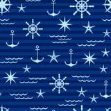 modèle nautique aux nuances du bleu illustration de vecteur