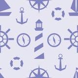 Modèle nautique de vecteur Images stock