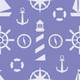 Modèle nautique de vecteur Image libre de droits