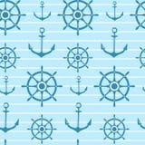 Modèle nautique de vecteur sans couture illustration stock