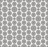 Modèle noir de cercles de points sur le fond blanc illustration stock