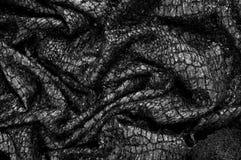 Modèle noir de fond de texture de tissu ce tissu du fabr en soie Photo stock