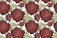 Modèle noir de roses Images stock