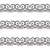 Modèle noir de vintage sur un fond blanc Images libres de droits