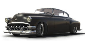 Modèle noir du véhicule 3D de cru illustration libre de droits