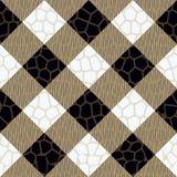 Modèle noir et beige d'écossais de plaid de tartan Eps10 sans couture carré illustration stock