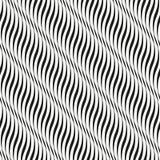 Modèle noir et blanc abstrait avec des vagues Photo stock