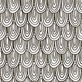 Modèle noir et blanc abstrait des échelles Configuration de vecteur Photos libres de droits