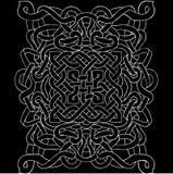 Modèle noir et blanc celtique Ornement scandinave Image stock