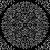 Modèle noir et blanc de dentelle Photo stock