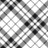 Modèle noir et blanc de diagonale de plaid de tartan irlandais de fc Photographie stock