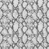 Modèle noir et blanc de peau de serpent illustration stock