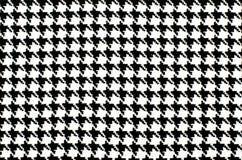 Modèle noir et blanc de pied-de-poule Image libre de droits