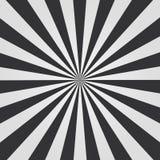 Modèle noir et blanc de rayon de soleil Fond comique Illustration de vecteur illustration stock