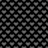 Modèle noir et blanc de Saint-Valentin de St Photographie stock libre de droits
