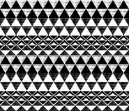 Modèle noir et blanc de triangle photographie stock