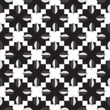 Modèle noir et blanc des feuilles Image stock