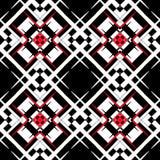 Modèle noir et blanc et rouge de style Photographie stock