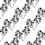 Modèle noir et blanc sans couture Image stock