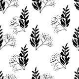 Modèle noir et blanc sans couture illustration stock