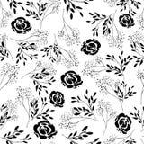 Modèle noir et blanc sans couture Photos stock
