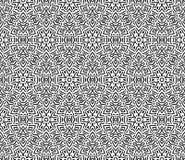 Modèle noir et blanc sans couture abstrait de vecteur Image stock