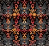 Modèle noir et blanc sans couture avec des silhouettes des papillons Photos libres de droits