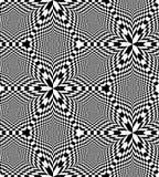 Modèle noir et blanc sans couture de losanges d'échiquier Illusion optique de perspective et de volume Illustration de Vecteur