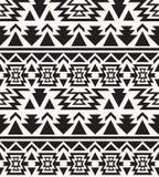 Modèle noir et blanc sans couture de Navajo Images stock