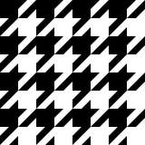 Modèle noir et blanc sans couture de pied-de-poule Photo libre de droits