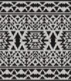 Modèle noir et blanc tricoté sans couture de Navajo Images stock