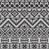 Modèle noir et blanc tricoté sans couture de Navajo Photographie stock libre de droits