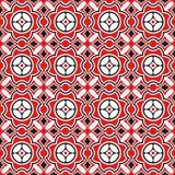 Modèle noir et rouge sans couture illustration de vecteur