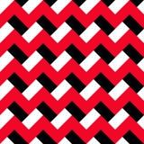 Modèle noir rouge de Chevron Images stock