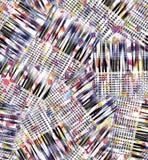 Modèle numérique de contrôles d'abrégé sur aquarelle photographie stock libre de droits