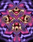 Modèle numérique symétrique brillant Photos stock