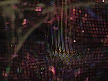 Modèle numérique vibrant abstrait de fractale de conception de bannière de construction d'affaires industrielles photographie stock libre de droits